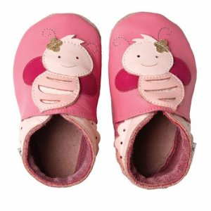 Bobux giants babyslofjes 4023 Pink bee 3XL