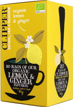 Clipper biologische thee - organic lemon ginger 20st