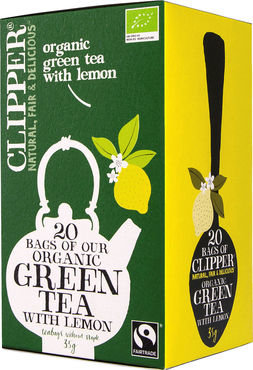 Clipper biologische thee - organic green tea lemon 20st
