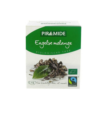 Piramide biologische thee Engelse mélange fair trade 15bt