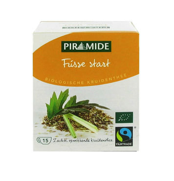 Piramide biologische thee frisse start morgenmix fair trade 15bt