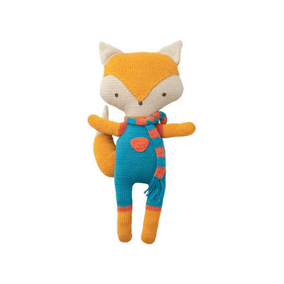 Hoppa Cuddly Friends gehaakte peppaknuffel in biokatoen Felix Fox
