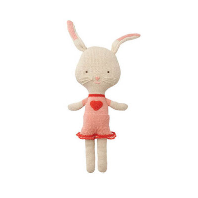 Hoppa Cuddly Friends gehaakte peppaknuffel in biokatoen Rita Rabbit