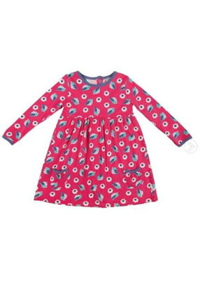 Frugi Little Maddie dress Raspberrie birdies 0-3 maanden